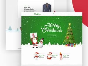 圣诞节主题网页模板设计