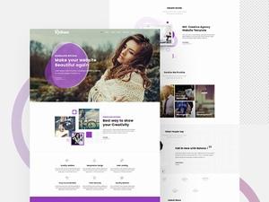 紫色系创意网页模板设计