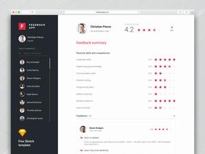 用户反馈页面sketch模板