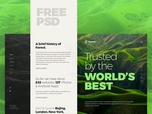 森林网站模板