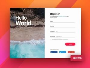 用户登录和注册界面设计模板