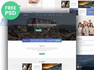 慈善网站PSD模板