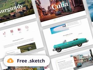 一套旅行网站sketch模板