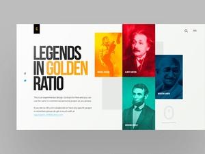 传奇人物黄金岁月网页设计模板