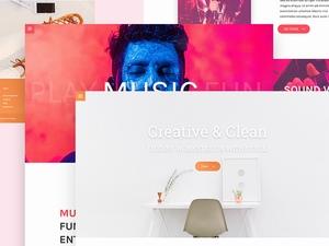 多个创意网站页面模板