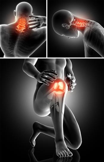 医疗生物科技颈椎膝盖关节ppt背景图片