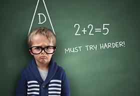 被算术题难倒的小孩