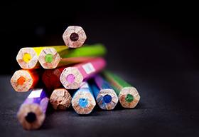 彩色铅笔特写