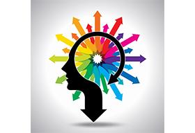 五彩大脑创意概念图