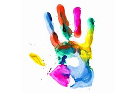 彩色的手印
