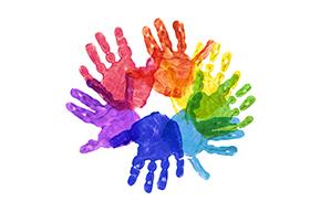 五颜六色的手掌印