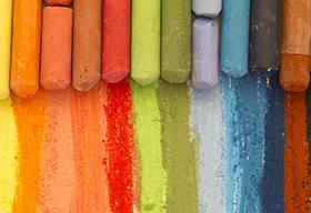五颜六色的粉笔高清大图