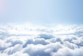 阳光下的云海高清图片