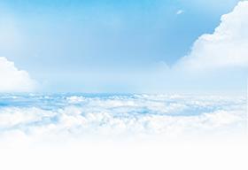 一望无际的云海