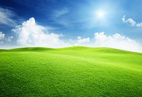 蓝天白云阳光绿地