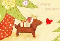 圣诞玩具大派送广告